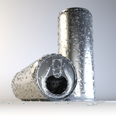 Can with droplets 3D Model