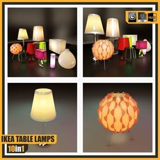 Ikea Table Lamps (10 different lamps) 3D Model