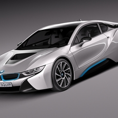 BMW i8 Coupe 2015 3D Model