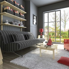 Condo Living Room 157 3D Model