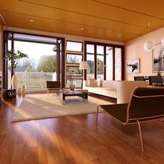Condo Living Room 172 3D Model
