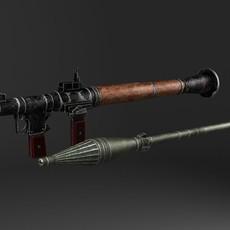 RPG-7 Bazooka 3D Model