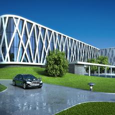 3D  Building 061 3D Model