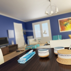 Condo Living Room 191 3D Model