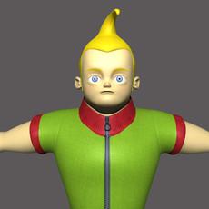 Cartoon Kid 3D Model
