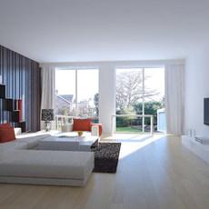 Condo Living Room 232 3D Model