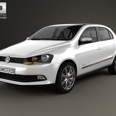 Volkswagen Gol 5-door 2012 3D Model