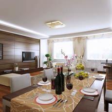 Condo Living Room 283 3D Model