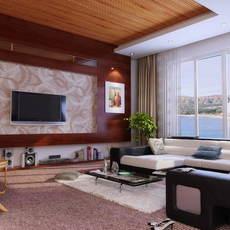 Condo Living Room 285 3D Model