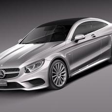 Mercedes-Benz S-Class Coupe 2015 3D Model