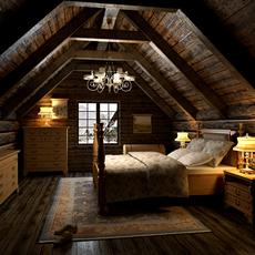 Condo Living Room 300 3D Model