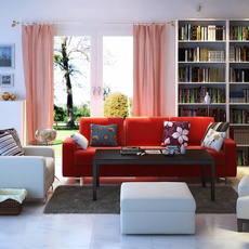 Condo Living Room 302 3D Model