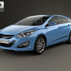 Hyundai i40 Tourer EU 2012 3D Model