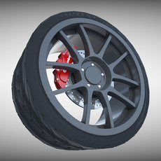 Weds Sport Carbon Wheel 3D Model