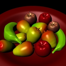 Fruits s apple, mango, bananas,maya, 3ds max , .fbx, .obj, files 3D Model