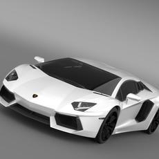 Lamborghini Aventador LP 700 4 LB834 3D Model