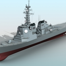 Kongo Aegis Destroyer 3D Model