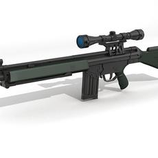 G3 Assault Rifle 3D Model