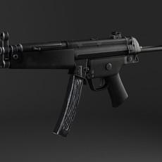 MP5A5 SubMachine Gun 3D Model