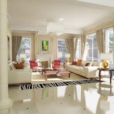 Condo Living Room 410 3D Model