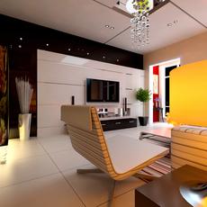 Condo Living Room 428 3D Model