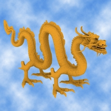 High Detail Chinese Dragon 03 3D Model
