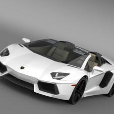 Lamborghini Aventador LP 700 4 Roadster US spec 3D Model