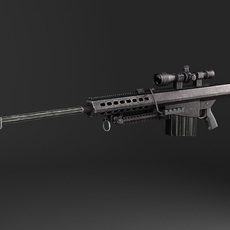Barrett M82A1 Sniper Rifle 3D Model