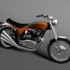 Triumph X75 Hurricane 1973 3D Model