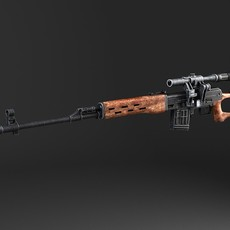 SWD Dragunov Sniper Rifle 3D Model