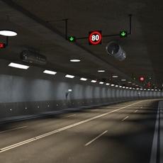 Tileable road tunnel 3D Model