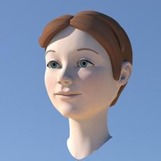 Girl with Morphs 3D Model