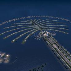 Dubai Palm Island Nighti 3D Model