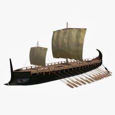 Greek Hepteres 3D Model