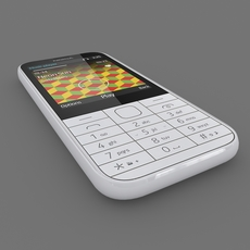 Nokia 225 White 3D Model