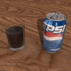 Pepsi Can + Damaged Can 3D Model