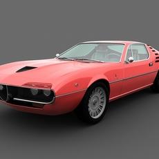 Alfa Romeo Montreal 1970 3D Model