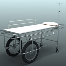 Hospital gurney trolley 3D Model