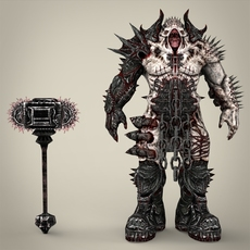 Hell Warrior Gabraal 3D Model