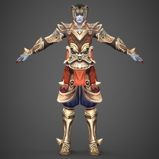 Fantasy Character King Jintara 3D Model