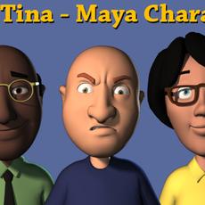 Mike and Tina Character Rig for Maya 2.8.0