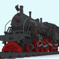 Steam Locomotive 3D Model