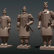 Chinese Terra Cotta Warrior Statues 3D Model