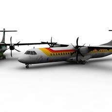ATR 72 Aircraft FOR GAMES 3D Model