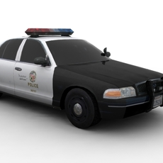 Ford Crow LAPD FOR GAMES 3D Model