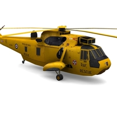 Sea King MK4 Helicopter FOR GAMES 3D Model