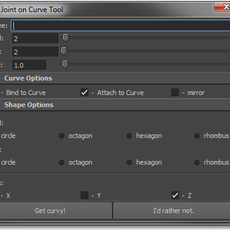 Joint on Curve Tool for Maya 1.0.1 (maya script)