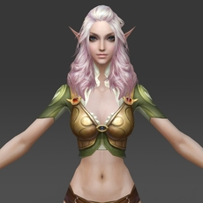 Fantasy Girl Queen Sujata 3D Model