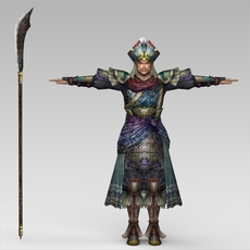 Fantasy Warrior Dara 3D Model