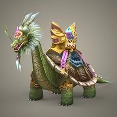 Fantasy Dragon Dingara 3D Model